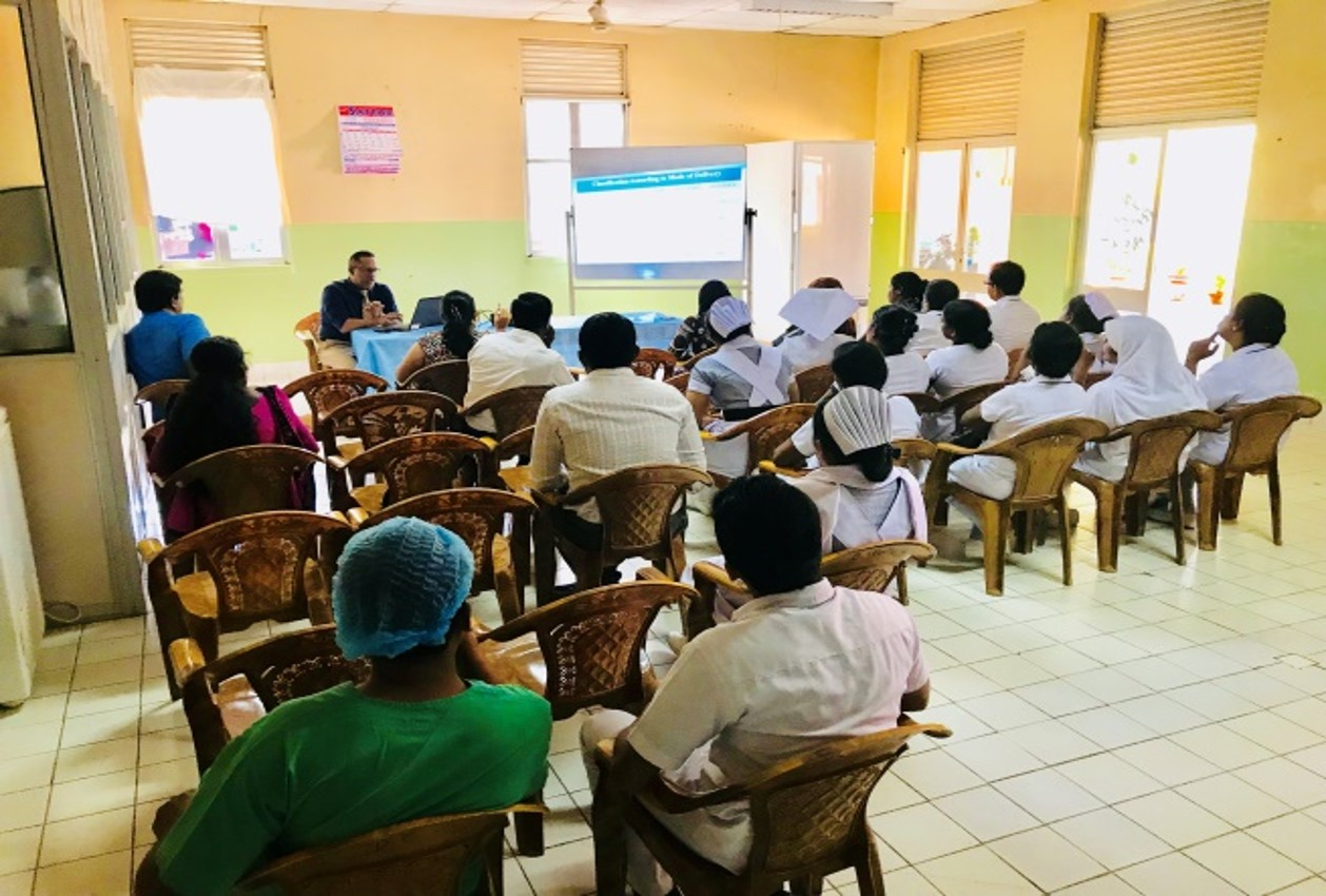 Perinatal review meeting team at Base Hospital,  Muthur