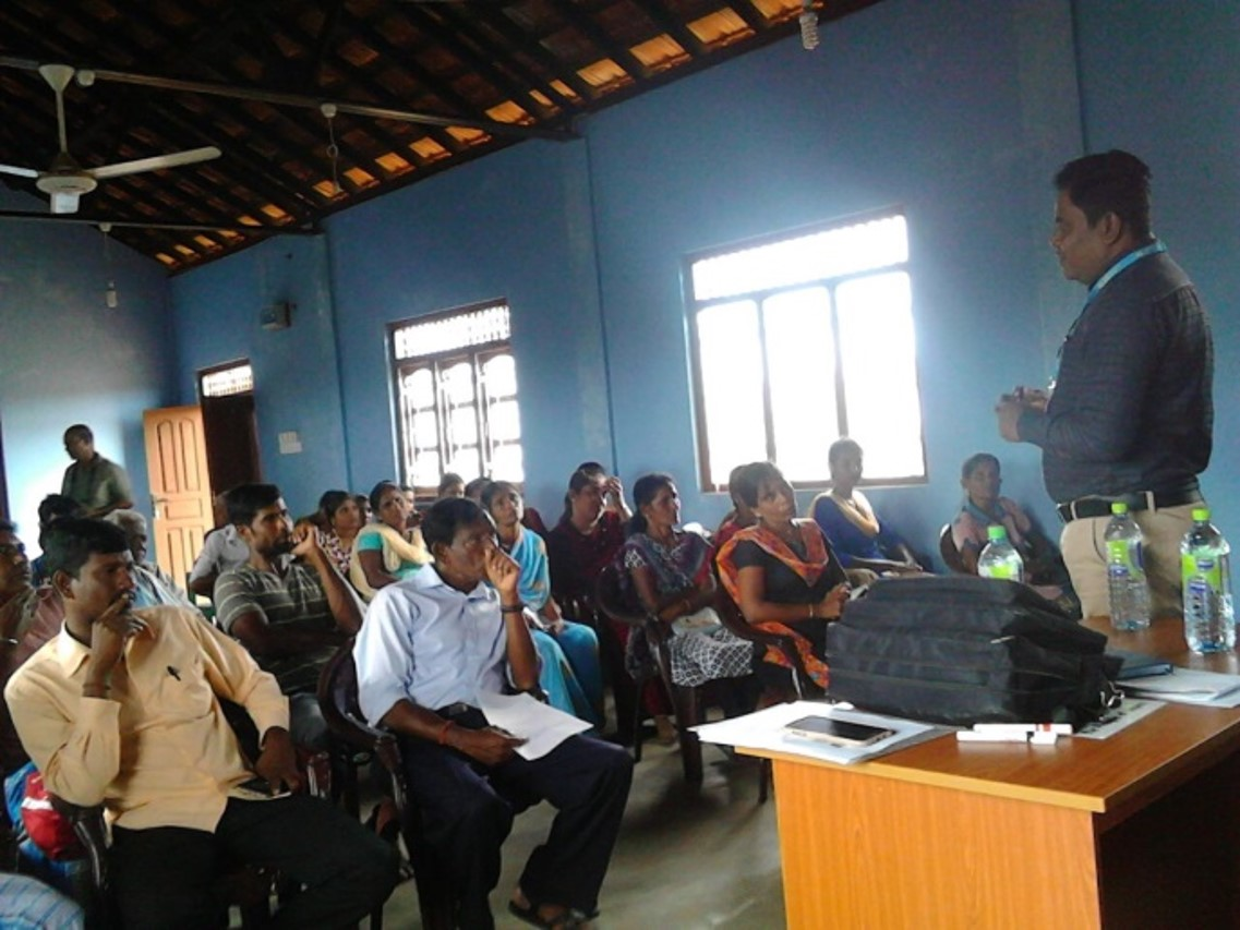 Project Orientation meeting, addressed by Mr. Gowri from UNICEF