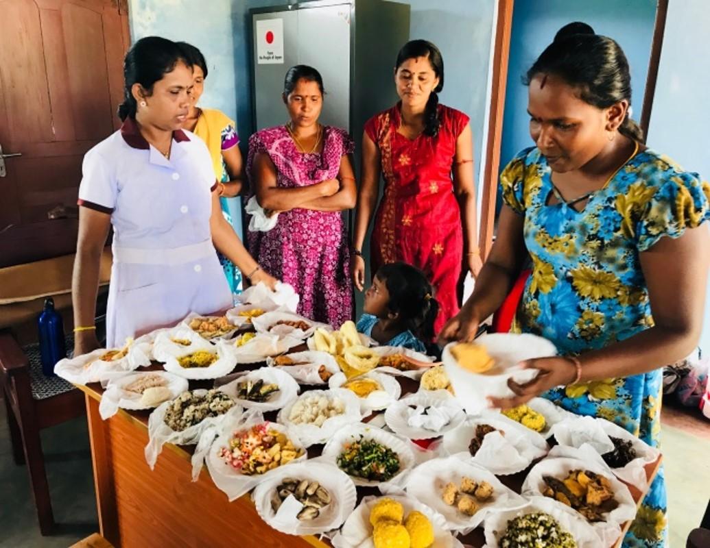 During the food demonstration at Sudaikudha
