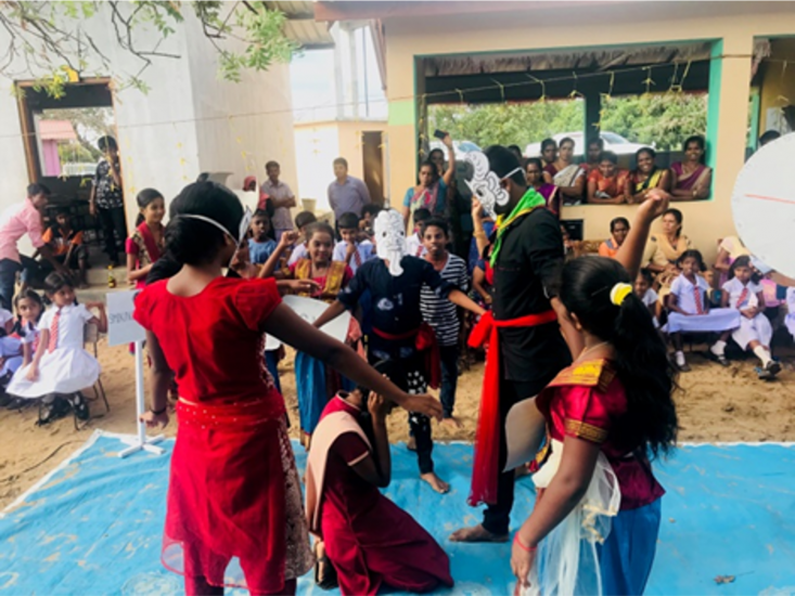 MHM facilities in Schools followed by Hygiene Promotion training