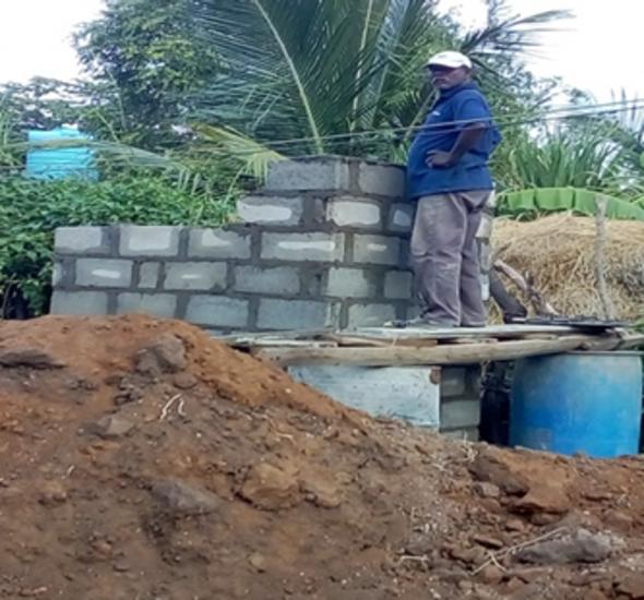 Toilets Construction in Sampoor East & Sampoor West