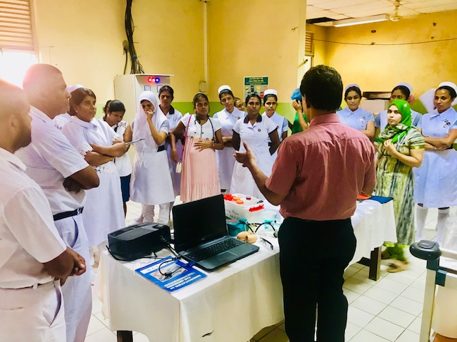 Training on Neonatal Life Support and Obstetric care at Base Hospital Muthur