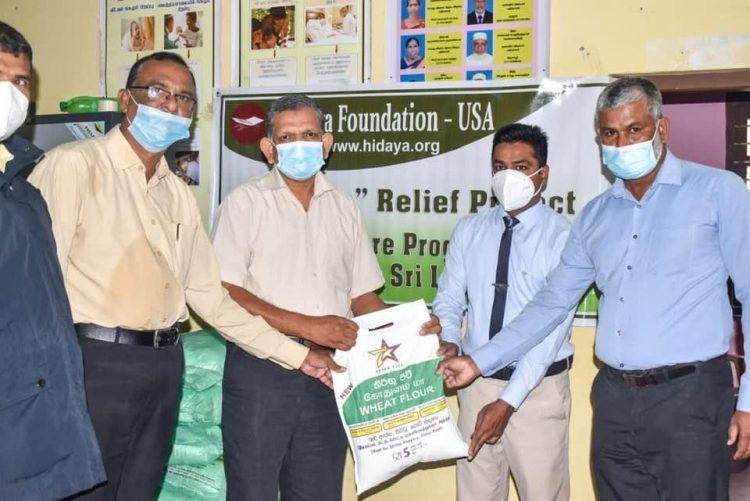 Handing over of dry rations packs to Divisional Secretary,Mutur on November 24,2020 for distribution among Covid 19 affected families.