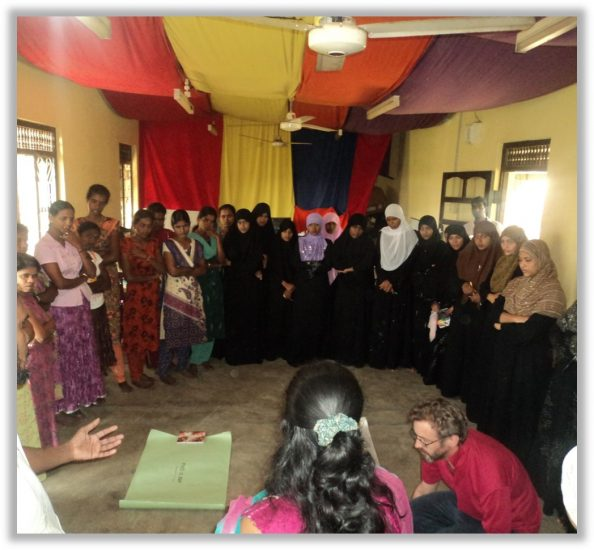 Workshop conducted  for the Youth in the area during the WorkCamp